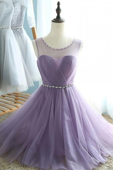 A-line Scoop Short Mini Chiffon Short Prom Dress Homecoming Dresses SKY185