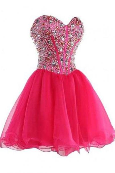 short prom dresses,A-line Sweetheart Short Mini Tulle Homecoming Dress Short Prom Dresses SP8106