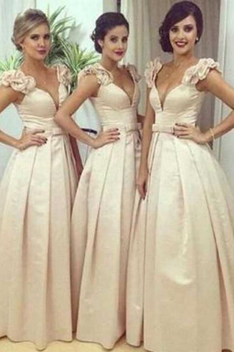 Bridesmaid Dresses Prom Dresses Formal Prom Dresses V-neck Prom Dress/Evening Dress #MK0553